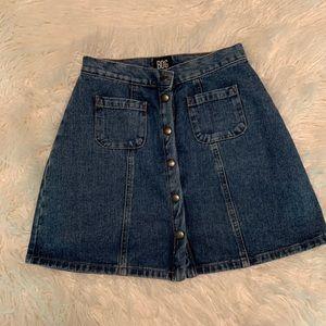 Urban Outfitters Button Up Denim Mini Skirt
